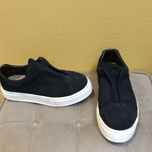 Eytys black suede doja slip on sneaker